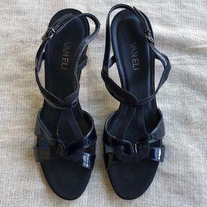 Vaneli Strap shoes Heels Royal Blue Size 9 N
